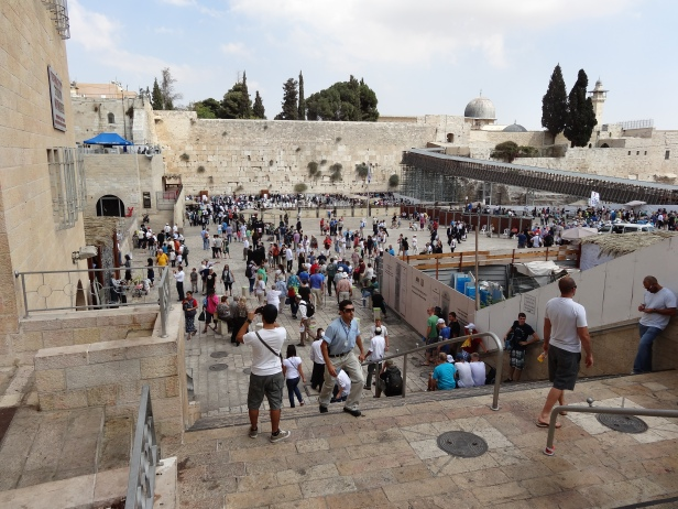 The Western Wall, adjacent to Haram al-Sharif (The Noble Quarter), in the Old City, Jerusalem. Photo credit Tom Butler.