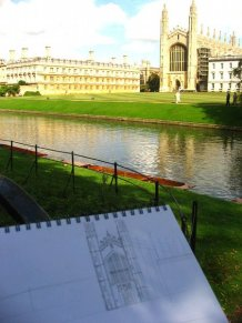 Jess Huang, drawing in Cambridge, 2009. Image courtesy Jess Huang.