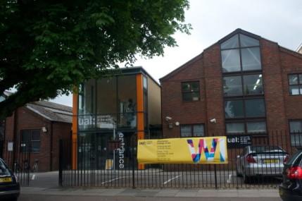 Wimbledon College of Arts, main entrance. Image courtesy eastlondonarttours.co.uk