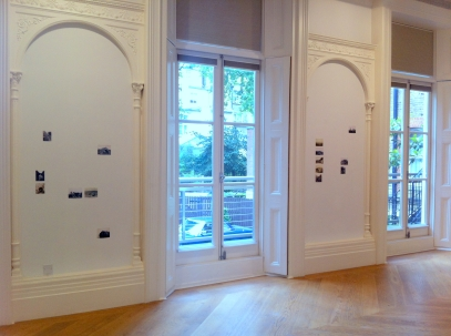 Esther Van Deman, installation view of archival photographs from sites in Italy, Algeria, Tunisia, France and Greece, 1907-1926, in 'My Sister Who Travels' at Mosaic Rooms, London. Image courtesy The Mosaic Rooms. Photo credit Kelise Franclemont.