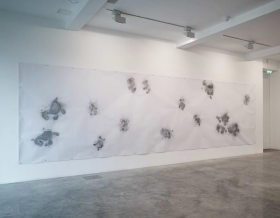 Jimmie Durham, installation view, 'Traces and Shiny Evidence' at Parasol Unit, London. Image courtesy Jimmie Durham and Parasol Unit. Photo credit Stephen White.