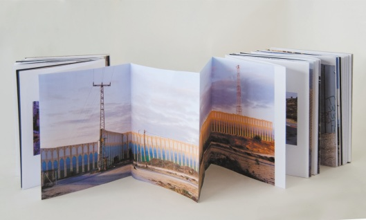 Kai Wiedenhofer, showing the 'protection wall' of the Kibbuz Netiv ha-Asara against small arms fire from the Gaza Strip, November 2010, In 'Keep your Eye on the Wall', 2013, edited by Olivia Snaije and Mitchell Albert, published by SAQI books, London.