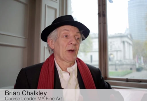 Brian Chalkley, Course Leader, discusses the MA Fine Art course at Chelsea College of Arts, Pimlico, London. Image courtesy Chelsea College of Arts.