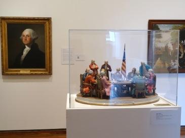 (foreground) Aldo Falchi, 'Declaration of Independence', 1976, edition 156/200, porcelain, at Everson Museum of Art, Syracuse, NY. Photo credit Kelise Franclemont.