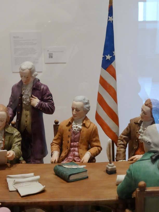 (detail) Aldo Falchi, 'Declaration of Independence', 1976, edition 156/200, porcelain, at Everson Museum of Art, Syracuse, NY. Photo credit Kelise Franclemont.