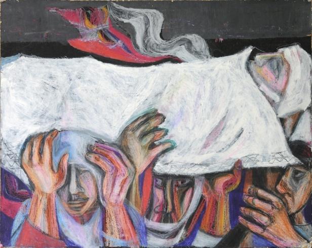Abed Abedi, 'Intifada', 1986. Image courtesy www.jadaliyya.com