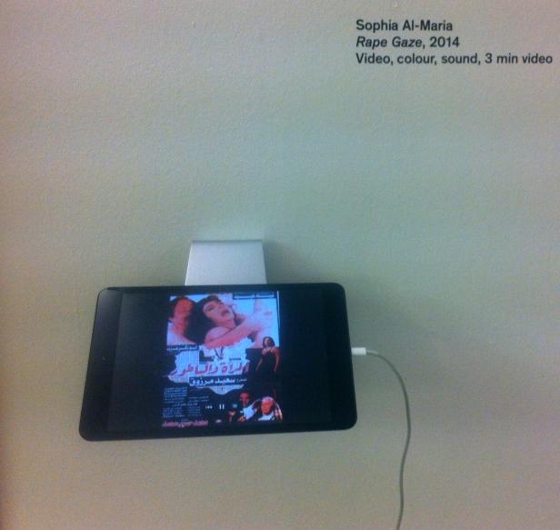 Sophia al-Maria, 'Rape Gaze', 2014, video colour, sound, 3 min, in 'Whose gaze is it anyway?' at the ICA, London. Photo credit Kelise Franclemont.