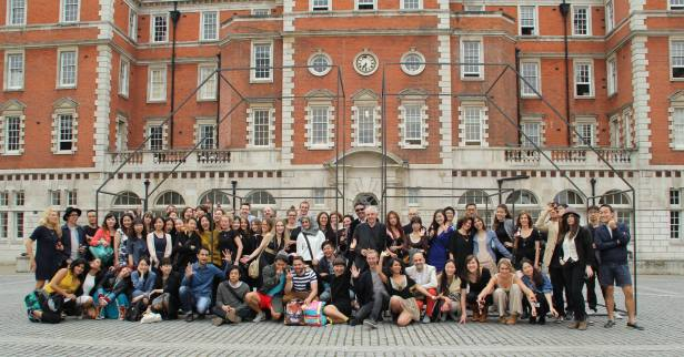 The class of 2014, MA Fine Art, Chelsea College of Arts, London. Photo credit Radhika Prabu.