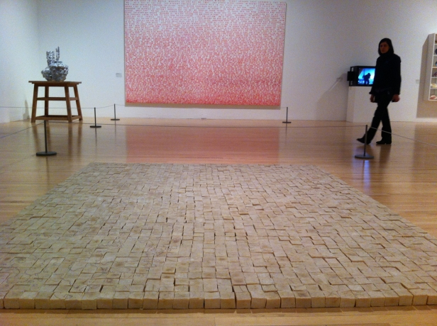 Mona Hatoum, 'Present Tense', 2006/2014, installation of soap and glass beads, in '500 years of British Art' at Tate Britain, London. Photo credit Kelise Franclemont.