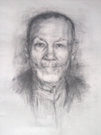 Aya Abu Ghazaleh, 'Mr Ahmed', 2012, graphite on paper.