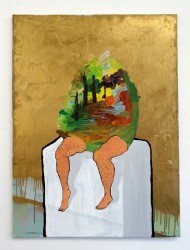 Morgan Wills, 'Eggman', 2014, in 'Assembly' at Chelsea College of Arts, London.