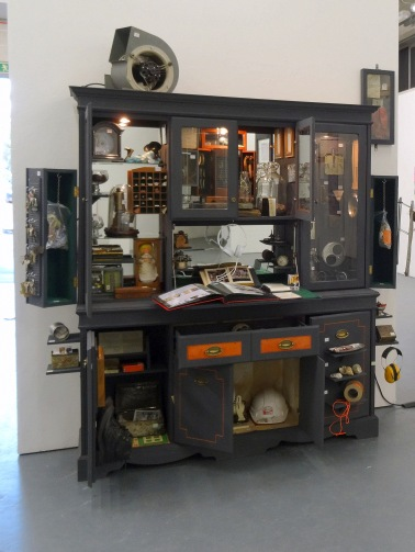 Rebecca Young, 'Industrial Cabinet of Curiosities', 2014, in 'Assembly' at Chelsea College of Arts, London.