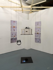 Stella Cecil, installation view, 2014, in 'Assembly' at Chelsea College of Arts, London.