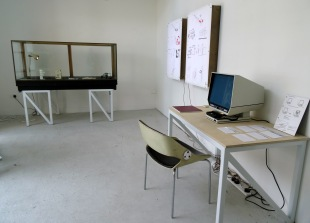 Aaron Wells, installation view, 2014, in 'Assembly' at Chelsea College of Arts, London.