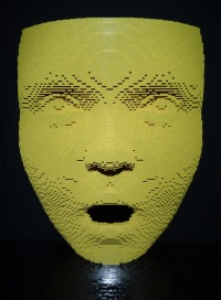 Nathan Sawaya, 'Facemask' series, date unknown, LEGO bricks, in 'Art of the Brick' at Truman Brewery, London. Photo credit Kelise Franclemont.