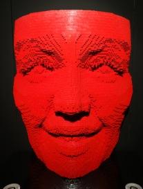Nathan Sawaya, 'Facemask' series, date unknown, LEGO bricks, in 'Art of the Brick' at Truman Brewery, London. Photo credit Kelise Franclemont.