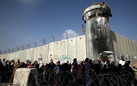 View of Qalandiya checkpoint, Ramallah. Image courtesy www.arttribune.com, 2 November 2012.