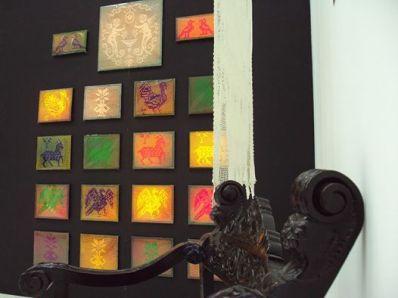 Artwork by Vera Tamari in 'Manam' exhibition at Al-mashgal - Arab Centre for Culture and Arts, Haifa, Israel, in Qalandiya International 2014 biennial art fair, Palestine. Exhibition open 1-15 November 2014. Image courtesy Qalandiya International.