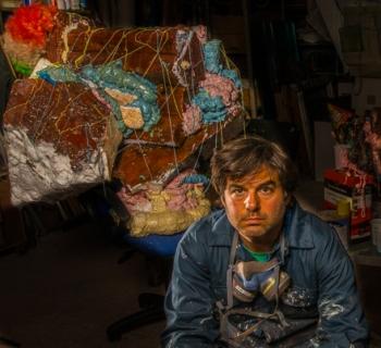 Adam Zoltowski in his studio. Photo © Stefan Lubomirski de Vaux 2014.