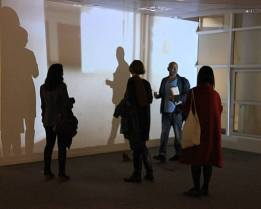 Kelise Franclemont, 'Dreams of the Rat Race (No Exit)', 2014, project digital video (2:37 mins looped), 'Office Party' in 'Office Sessions III' at Anchorage House, East India docks, London. Photo credit Louise Wheeler.