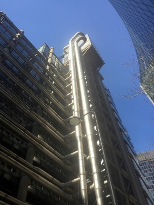 The Lloyd's building, City of London. Photo credit Kelise Franclemont.