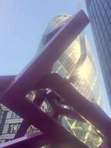 Julian Wild, 'Salvia', welded steel, in 'Sculpture in the City 2014', London. Photo credit Kelise Franclemont.