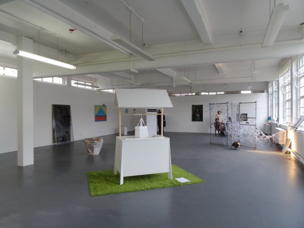 Installation view. MFA Fine Art Show 2015 at Wimbledon College of Arts, London. Photo credit Kelise Franclemont.
