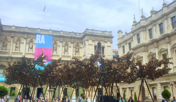 Conrad Shawcross RA, 'The Dappled Light of the Sun', 2015, weathering steel, in Summer Show 2015, at Royal Academy of Arts, London. Photo credit Kelise Franclemont.