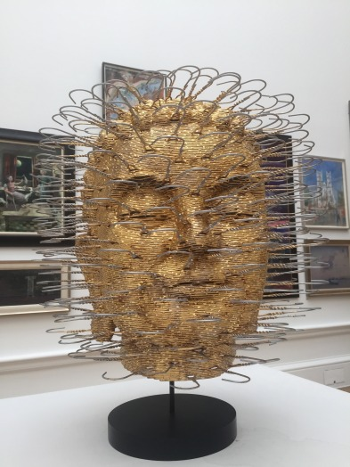 David Mach RA, 'Buddha' (multiple editions), 2015, coat hangers and gold leaf, Gallery VIII, in Summer Show 2015 at Royal Academy of Arts, London. Photo credit Kelise Franclemont.