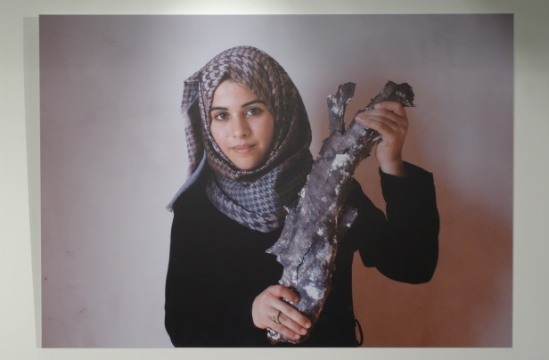 Heidi Levine, 'Gaza conflict: my drawings reflect what is in my heart', 2014/15, photographic print, in 'Gaza on Gaza' exhibition at P21 Gallery, London. Photo credit Kelise Franclemont.