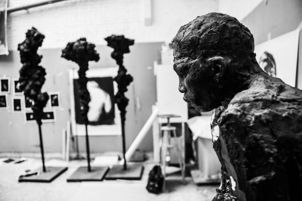Inside the studio of artist Guy Haddon-Grant. Image courtesy the artist and Karavil Contemporary, London.