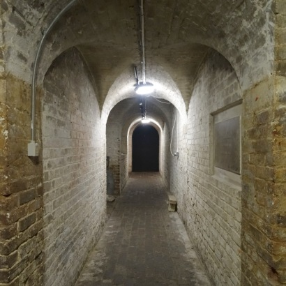 Interior view of The Crypt Gallery, St Pancras, London. Photo credit Kelise Franclemont.