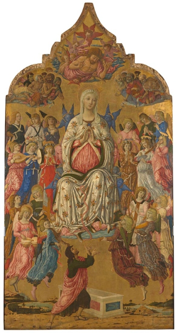 Matteo di Giovanni, active 1452; died 1495, The Assumption of the Virgin probably 1474, Tempera and gold on wood, 331.5 x 174 cm. http://www.nationalgallery.org.uk/paintings/NG1155