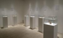 Hanadi Azmi, 'Drafting history', 2014, installation and found ceramic pieces, in 'Suspended Accounts'', Qalandiya International 2014 biennial art fair in Ramallah Municipal Hall, Palestine. Photo credit Kelise Franclemont.