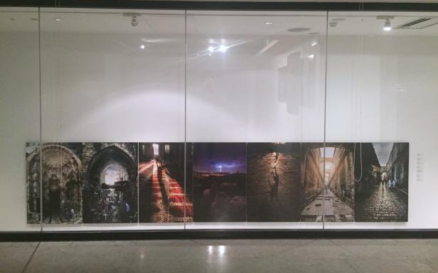 (l-r) Abdallah Hawash, Khaled Salem, Obayda Jamal, Mohamad Abdeen, Khaled Salem, Khaled Salem, all 2015, photographic prints, in 'Jerusalem/Home' at P21 Gallery, London. Image courtesy the artist and P21 Gallery. Photo credit Kelise Franclemont.