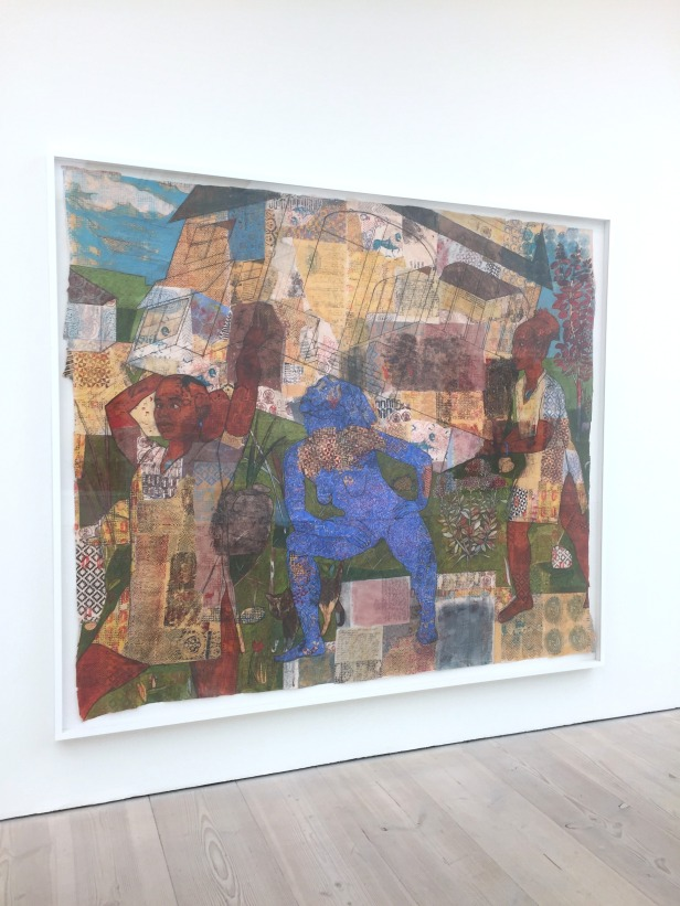 Mequitta Ahuja, 'Autocartography I', 2012, Acrylic, colored pencil, oil, watercolor and waxy chalk on vellu, in 'Champagne Life' at Saatchi Gallery, London. Photo credit Kelise Franclemont.