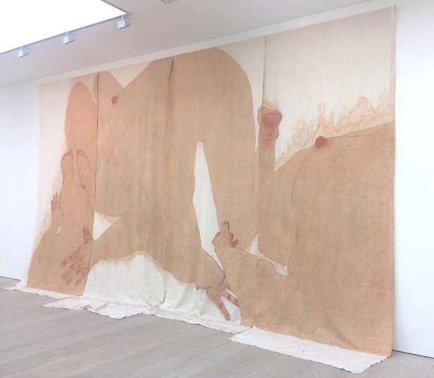 Seung Ah Paik, 'Autolandscape', 2012-13, Pigment, charcoal & rabbit skin glue on canvas, in 'Champagne Life' at Saatchi Gallery, London. Photo credit Kelise Franclemont.