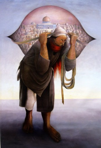 Sulemein Mansour, 'Camel of hardship', 1973, oil on canvas. Image courtesy middleeastrevised.com
