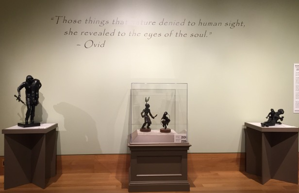 Installation view, 'Michael Naranjo: The artist who sees with his hands', at Booth Western Art Museum, Cartersville, Georgia, USA. Photo credit Kelise Franclemont.