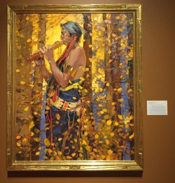 John Moyers, 'The suitor's song', not dated, oil on canvas, at Booth Western Art Museum, Cartersville, GA. Photo credit Kelise Franclemont.