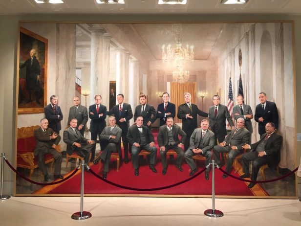 Ross R Rossin, 'A Meeting in Time' (The American Presidents of the 20th Century), 2004, oil on canvas, at Booth Western Art Museum, Cartersville, GA. Photo credit Kelise Franclemont.