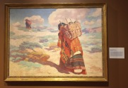 "Warren E Rollins, 'The Burden Bearers', 1929, oil on canvas, at Booth Western Art Museum, Cartersville, GA. Photo credit Kelise Franclemont. The card reads: 'Rollins gained recognition as an Indian painter in California, and is also known for helping to establish an art colony in Santa Fe in the early 1900s. This painting is very similar to a frequently copied photograph of the time, entitled, ""Carrying water to Tewa""...'"