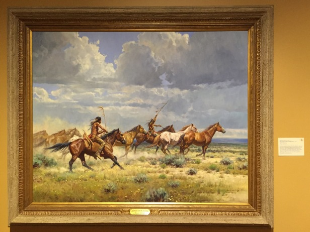 Martin Grelle, 'Running with the elk dogs', 2007, oil on canvas, at Booth Western Art Museum, Cartersville, GA. Photo credit Kelise Franclemont.