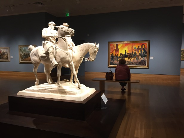 Installation view, 'War is Hell' gallery at Booth Western Art Museum, Cartersville, GA. Photo credit Kelise Franclemont.