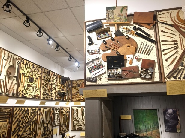 Installation view, 'Tools of the Trade', a portion of the tool collection of Joseph Alan Sellars, at Funk Heritage Center at Reinhardt University, Waleska, Georgia. Photo credit Kelise Franclemont.