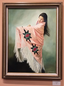 C.A. Rutledge, 'The Shawl', 1982, oil on canvas, in 'Home at Last' gallery, Funk Heritage Center at Reinhardt University, Waleska, Georgia. Photo credit Kelise Franclemont.