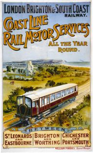 London, Brighton and South Coast Railway poster, 1906. Image courtesy Wikimedia Commons.