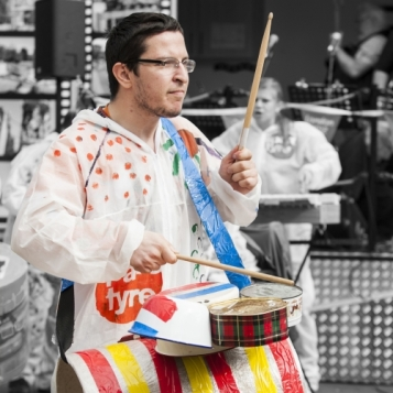 Spare Tyre, 'Spare Tyre Band and Jam Session', Wandsworth Arts Fringe, 2016. Image courtesy Spare Tyre and WandsworthFringe.com. More: http://wandsworthfringe.com/2016/event/spare-tyre-band-jam-session
