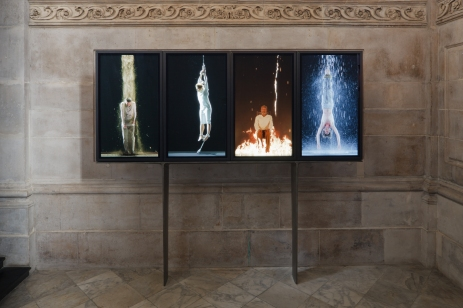Bill Viola, 'Martyrs (Earth, Air, Fire, Water), 2014, video installation, at St Paul's Cathedral, London. Image courtesy Stpauls.co.uk