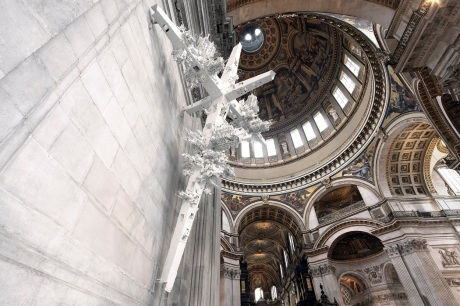 Gerry Judah, 2014, 'Commemoration Crosses', site-specific sculpture, at St Paul's Cathedral, London. Image courtesy Stpauls.co.uk
